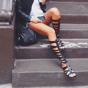 Sam Edelman black gladiator sandal